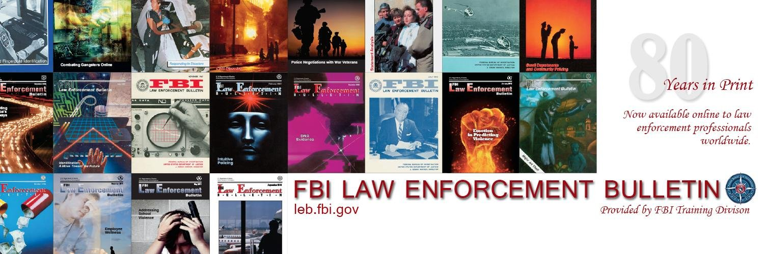 The August content is now available online. To view articles, go to leb.fbi.gov. Topics include policin… twitter.com/i/web/status/1…