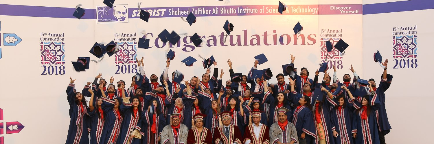Shaheed Zulfiqar Ali Bhutto Institute of Science and Technology's official Twitter account