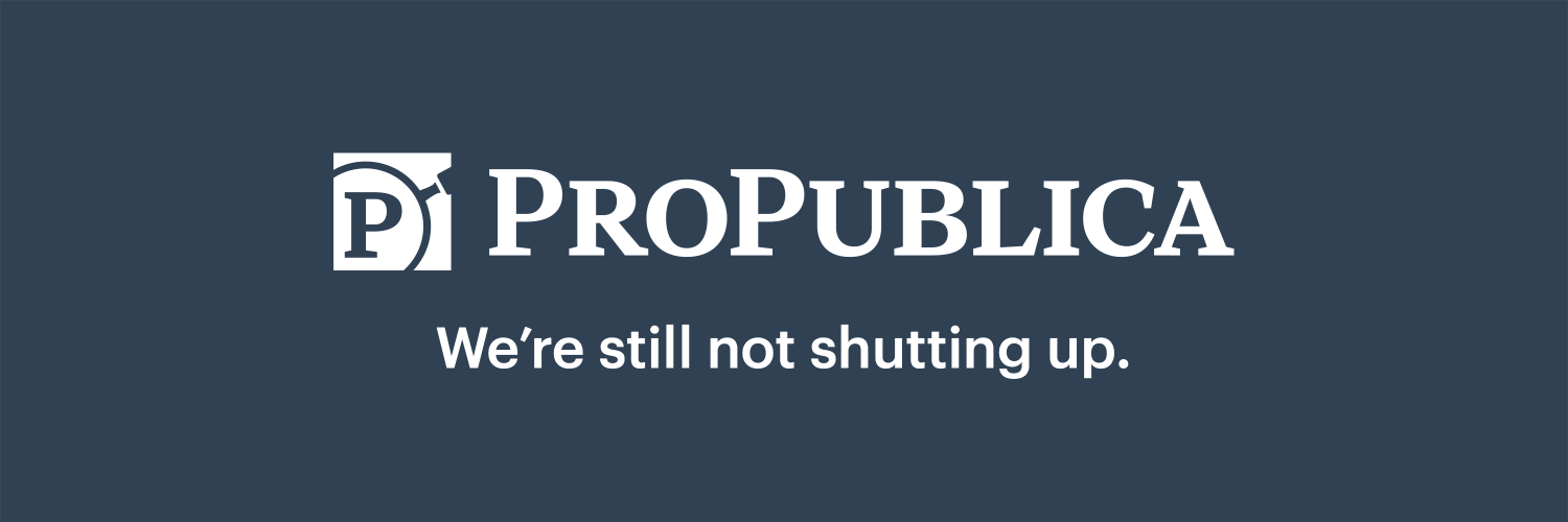 Pursuing stories with moral force. Send us things: propub.li/2hoDS2G. Newsletter: propub.li/2LdoRh6. Also follow @ProPublicaIL. We're there, too.