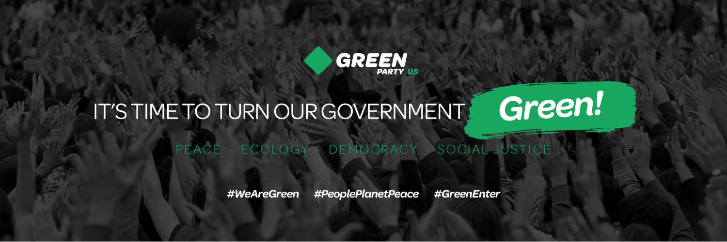 Official Twitter account of the Green Party of the United States // Twitter oficial del Partido Verde E.E.U.U. facebook.com/GreenPartyUS/