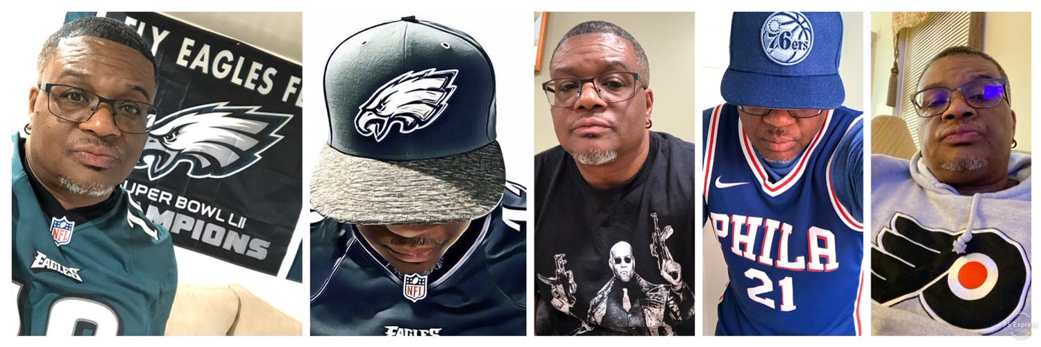 #PhillyBorn #Delawarian #USAFVet🇺🇸 #SB52Champs #FlyEaglesFly #Sixers #Phillies #Flyer #WilmU #MBA #ITManager #VOTEBlue 🌊 #TheyHateUs #BlackLivesMatter #Muter