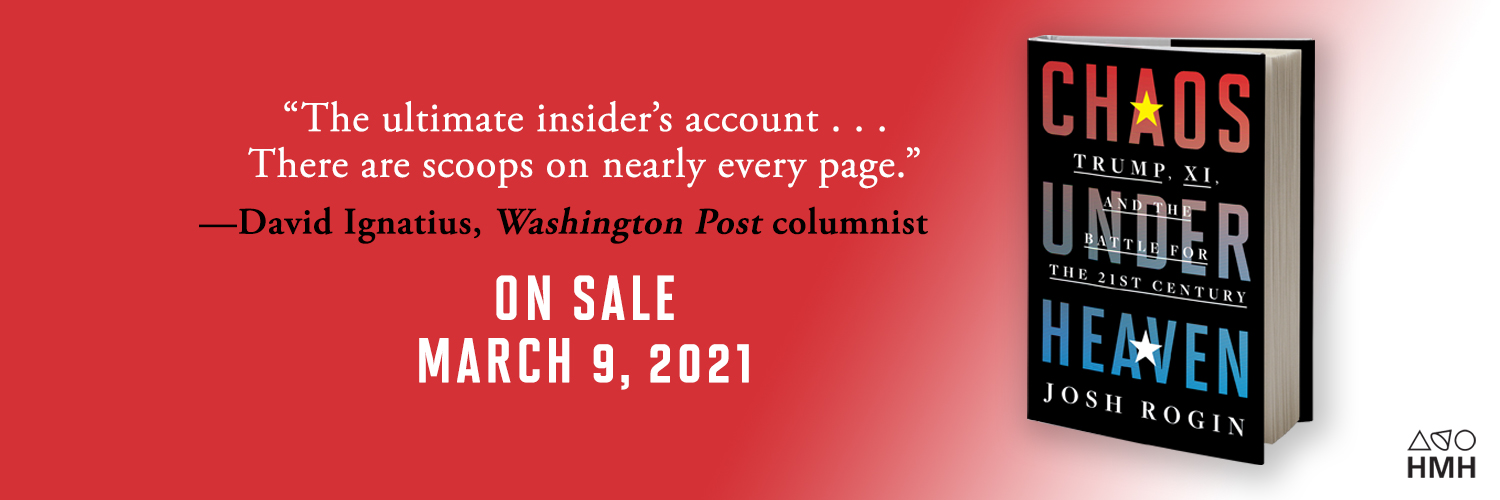 CHAOS UNDER HEAVEN by @joshrogin reveals an administration at war with itself during perhaps our most urgent hour. Read the first excerpt here: wapo.st/3bfWdKY Grab your copy: bit.ly/3uWKQPC
