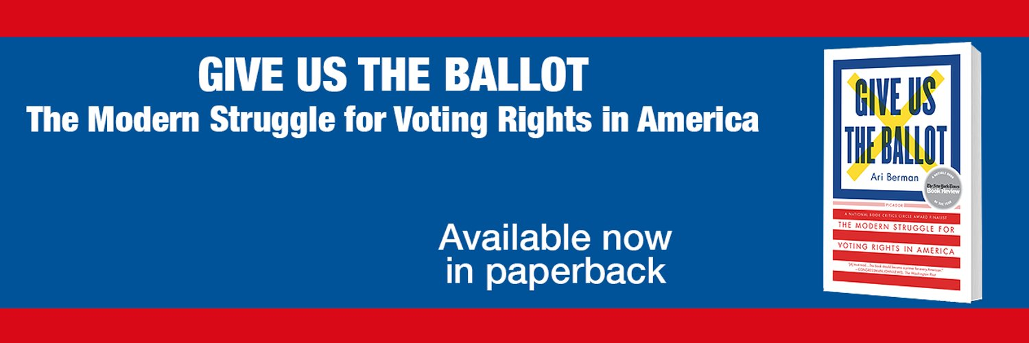 Author: Give Us the Ballot: The Modern Struggle for Voting Rights in America amzn.to/2asHld2 Writer: @motherjones Speaking: annette@speakersforall.com