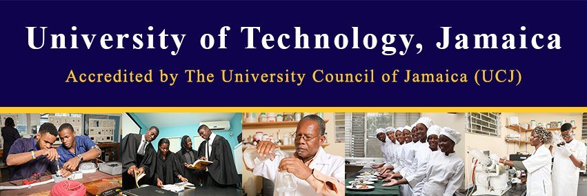 University of Technology, Jamaica's official Twitter account