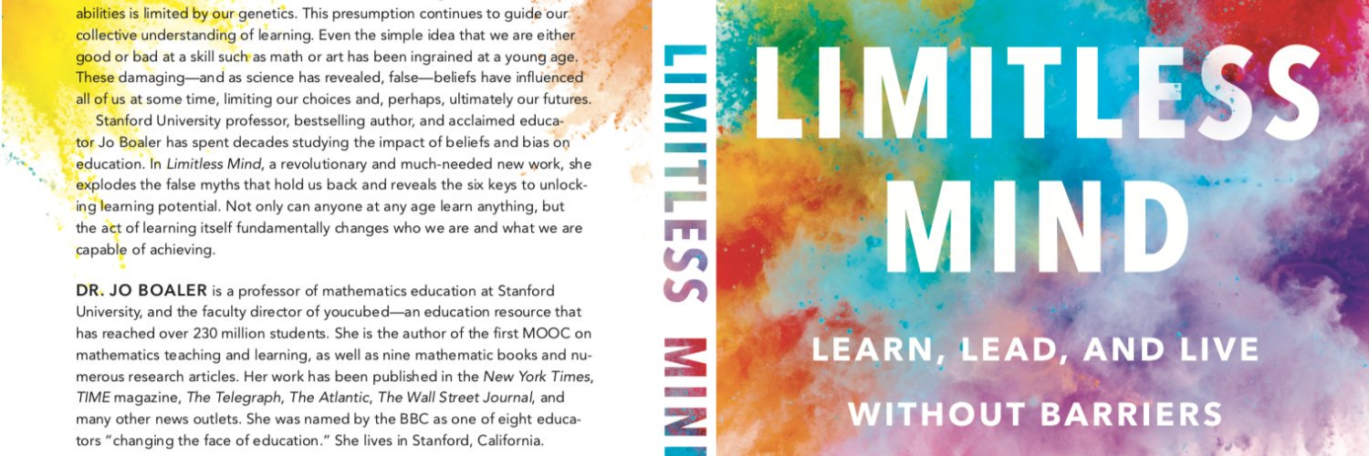Stanford Professor, British Maths Revolutionary, Author: Limitless Mind, Online course experimenter, co-founder: youcubed.org & avid Baggies Fan!