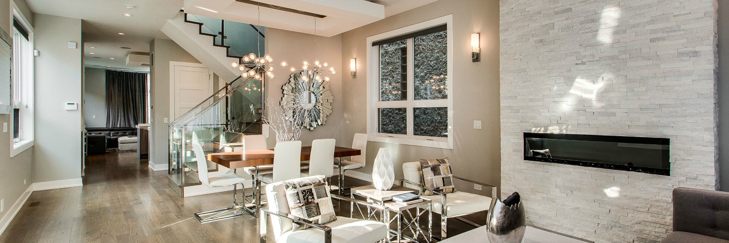 Elite Remodeling (@elitewindowschi)  Twitter. Blush Bedroom. Modern Corner Cabinet. Tiled Fireplace. Glass Wall Sconce. Curtains For Large Living Room Windows. Living Roof. Table Behind Couch. 3 Piece Breakfast Set