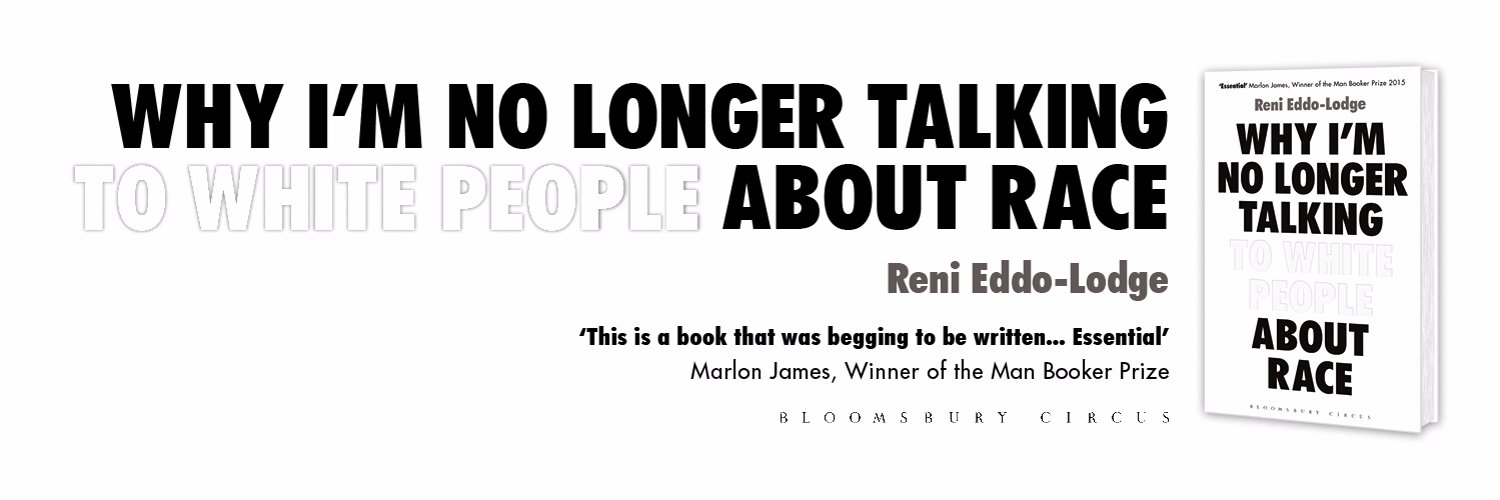 Author of the triple award winning WHY I'M NO LONGER TALKING TO WHITE PEOPLE ABOUT RACE. She/her. Agent: @plittyc