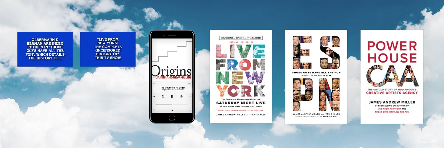'Origins' podcast, HBO, ESPN, SNL, CAA, and all things in between. bit.ly/OriginswithJAM