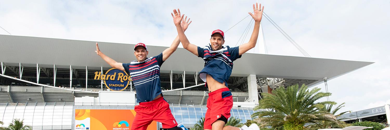 That feeling when you reach your 7th final in Miami!! Tomorrow, @Bryanbros & @Bryanbrothers will fight to catch the… https://t.co/8N2cQnuuhj