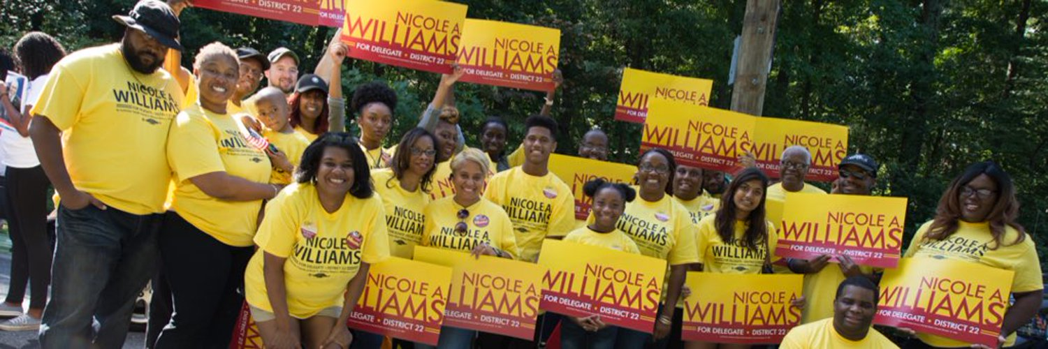 MD Delegate-District 22, 3rd Vice Chair @MDDems Party, Condo Lawyer. By Authority: Friends of Nicole A. Williams, Robert L. Williams, Treasurer. opinions mine