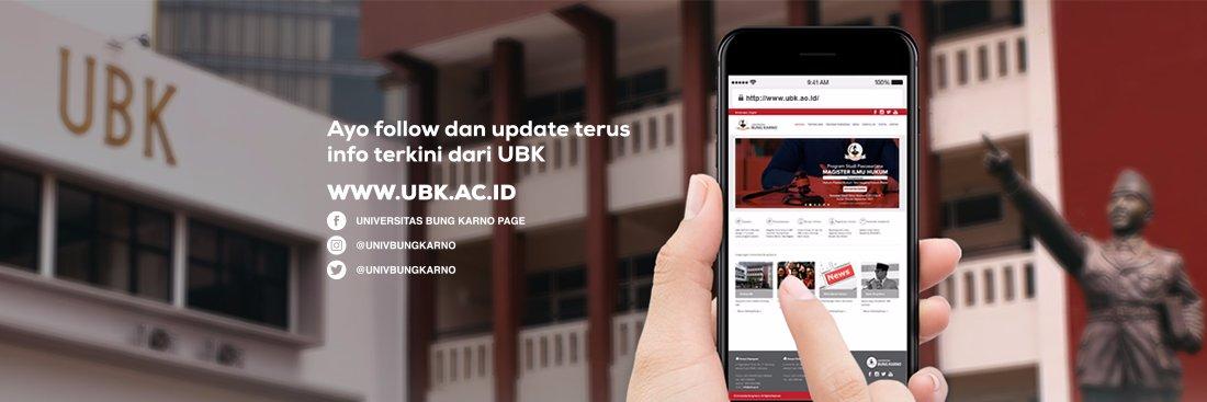 Universitas Bung Karno's official Twitter account