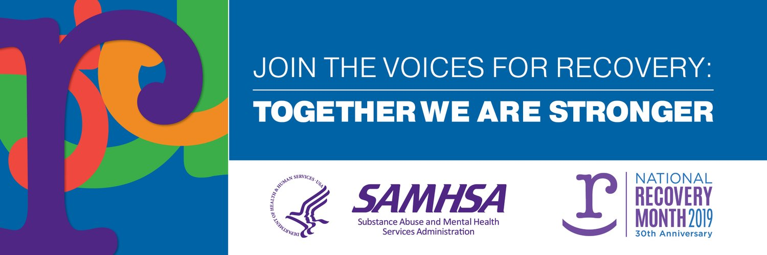 Celebrating people in all forms of recovery and those who serve them. Sponsored by @SAMHSAgov. Following ≠ endorsement. bit.ly/RMCommentPolicy