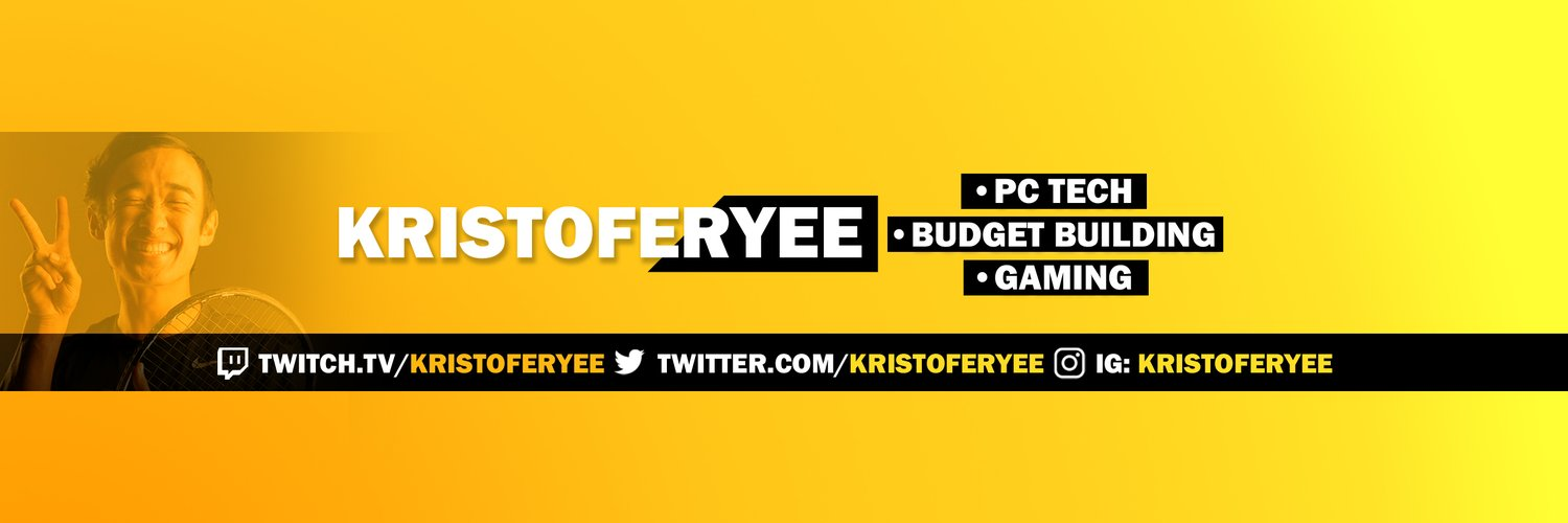 Tech Youtuber (450k) and Twitch Partner: Twitch.tv/kristoferyee Business email: kristoferyee@gmail.com For PC Questions: discord.gg/kristoferyee
