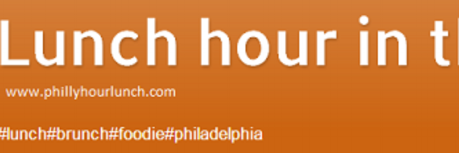 I am a huge foodie, I cook, travel and LOVE to eat. Armed with my cell phone I am discovering Philadelphia restaurant lunch locations on a workday.