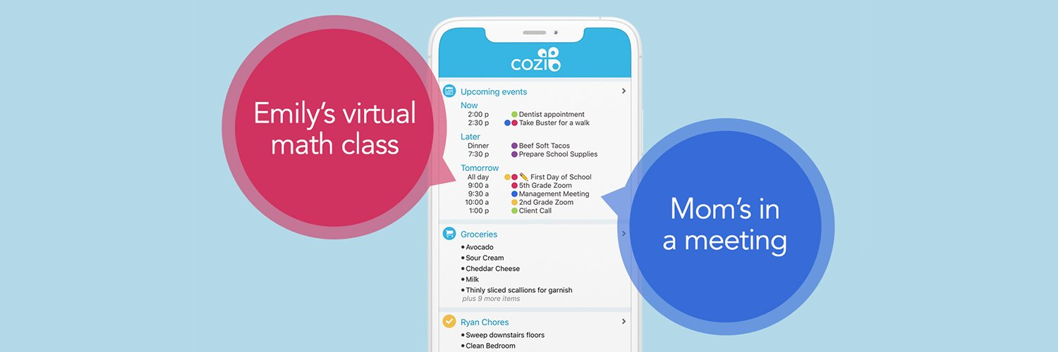 Free family organizer app and website to manage the family calendar and keep everyone on the same page. For support: cozi.com/contact-us