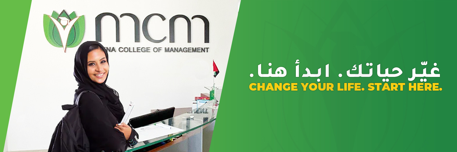 MENA College of Management (On Probation)'s official Twitter account