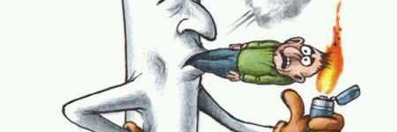 Прикольные рисованные картинки про курение