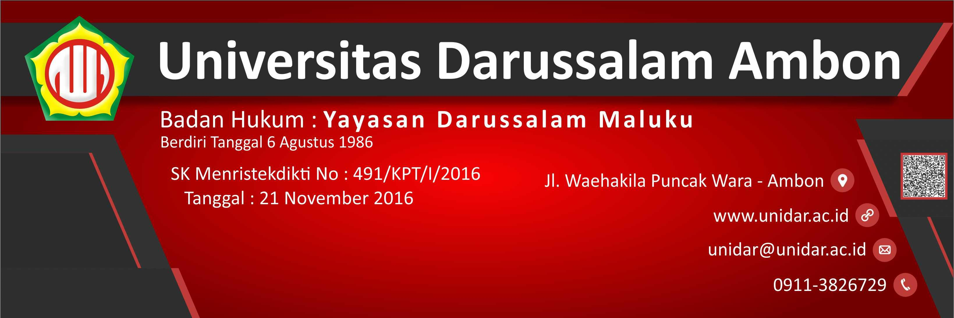 Universitas Darussalam Ambon's official Twitter account