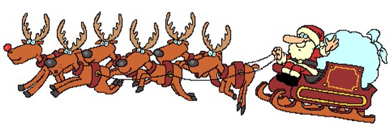 Открытку, флеш открытка санта с оленями