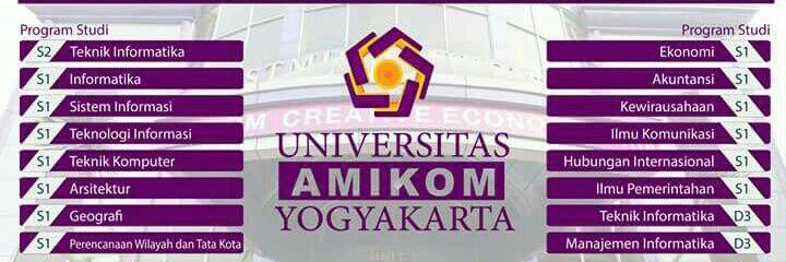 Universitas AMIKOM Yogyakarta's official Twitter account