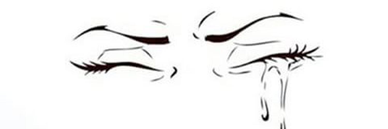 рисунки закрытые глаза со слезами сожалению