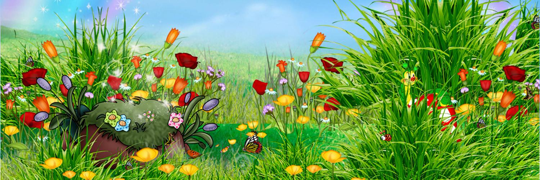 Рисунок лесная полянка с цветами