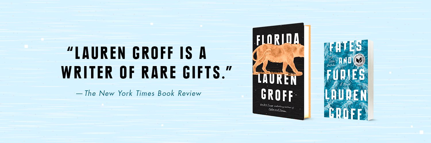 Author of 5 books, including National Book Award Finalist FATES AND FURIES. Story collection, FLORIDA, out June 2018 with @riverheadbooks.