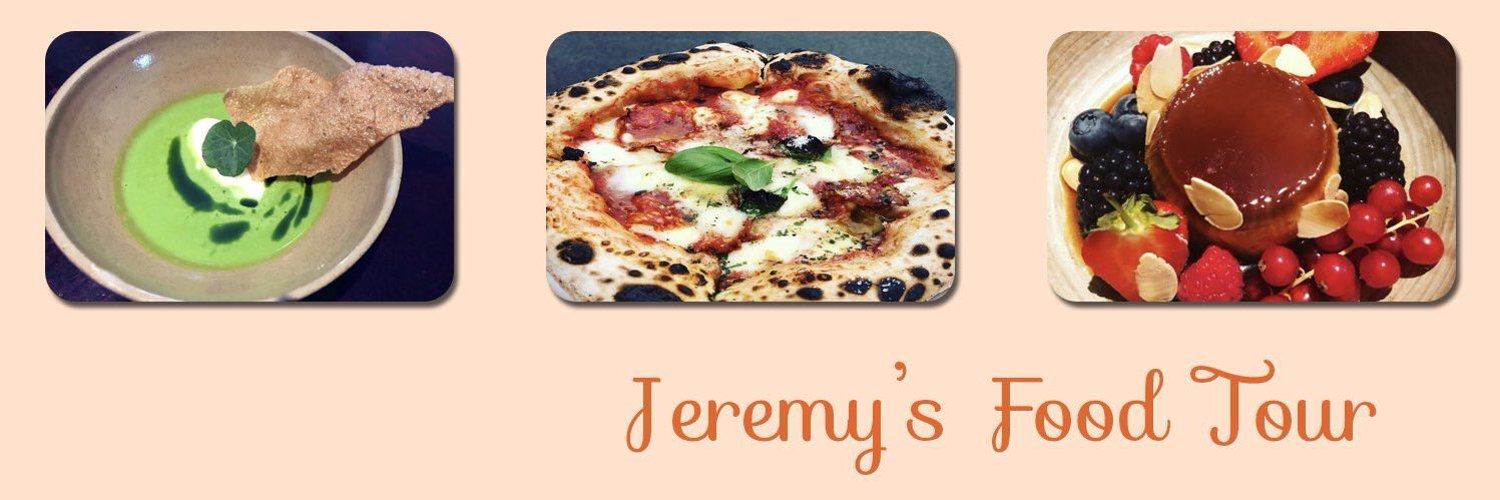 This is my Twitter account for my food adventures! Hope you'll join me on my food tour! Follow using #JeremysFoodTour Great Restaurant recommendations welcome!