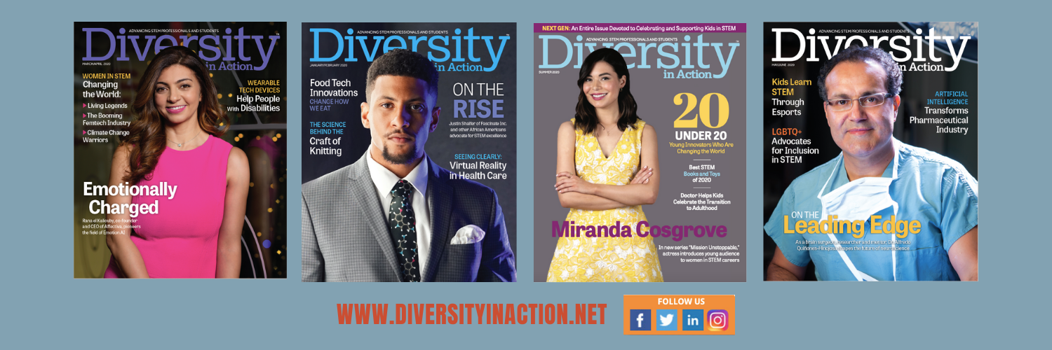 Print/digital magazine advancing diverse #STEM professionals and students. Subscribe for free at the link below. Find us on Instagram: @div_in_action