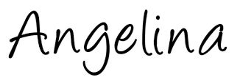 Картинка с надписью ангелина
