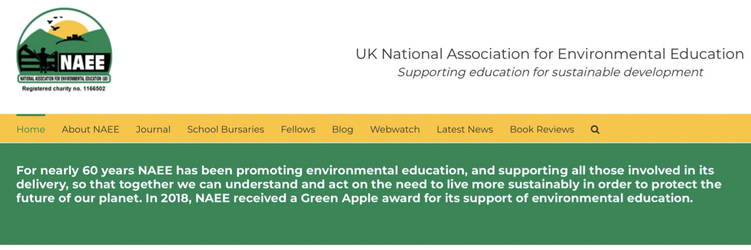#Education for #Sustainable #Development #STEM #nature #literacy   Based in UK -partners in USA, Canada, Asia, Africa, New Zealand, Australia   info@naee.org.uk