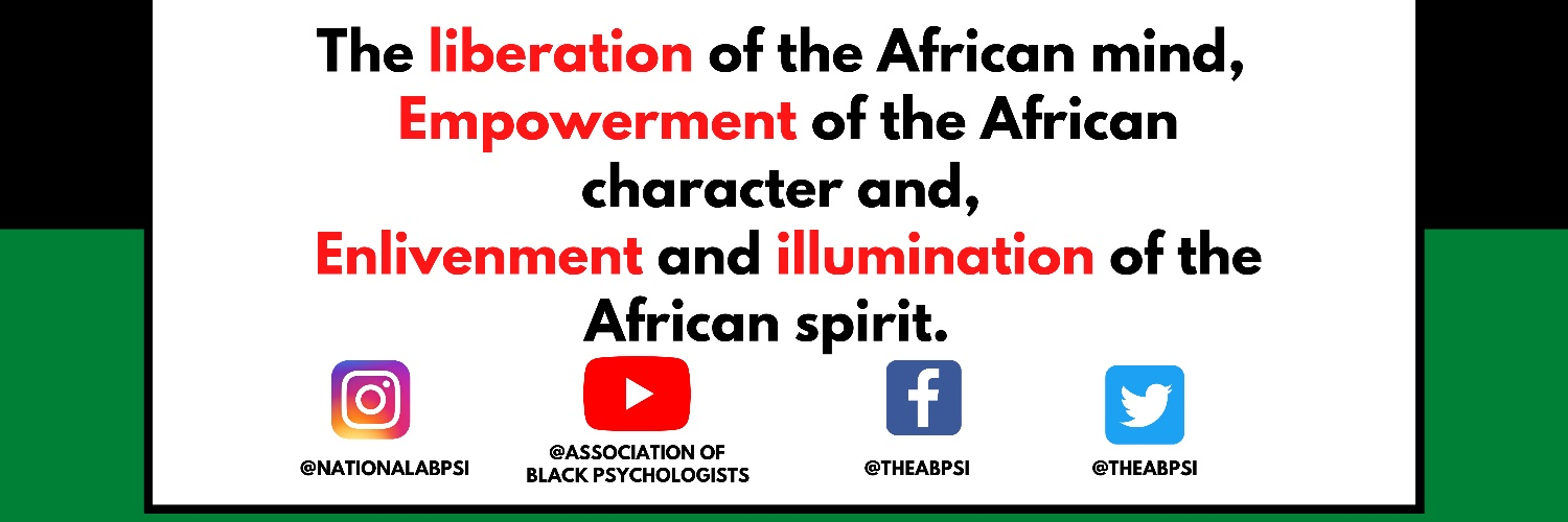 The Official Twitter of The Association of Black Psychologists
