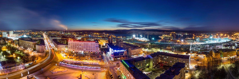 верните фотоснимки панорама города мурманска члены семьи