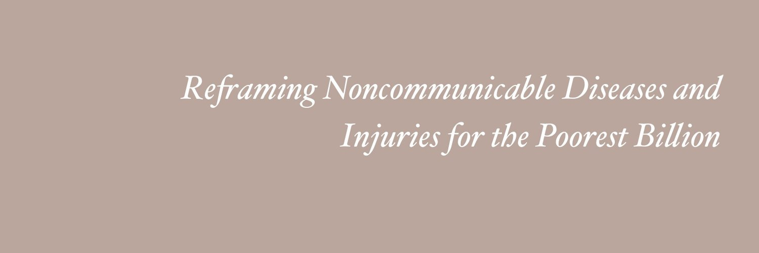 The Lancet Commission on Reframing #NCDs and #Injuries for the Poorest Billion. Join our global online launch event on 15 September: bit.ly/2YFr3pw