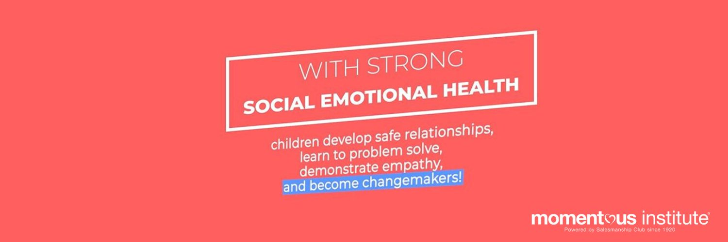 Working to build and repair social emotional health so all children can achieve their full potential. | #ChangingTheOdds | IG: momentousinstitute
