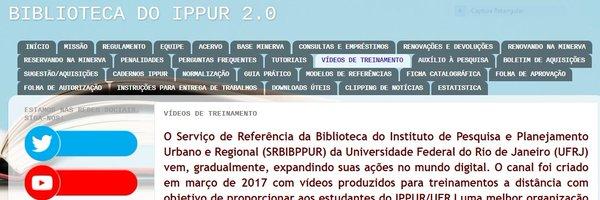 BIBLIOTECA DO IPPUR/UFRJ Profile Banner