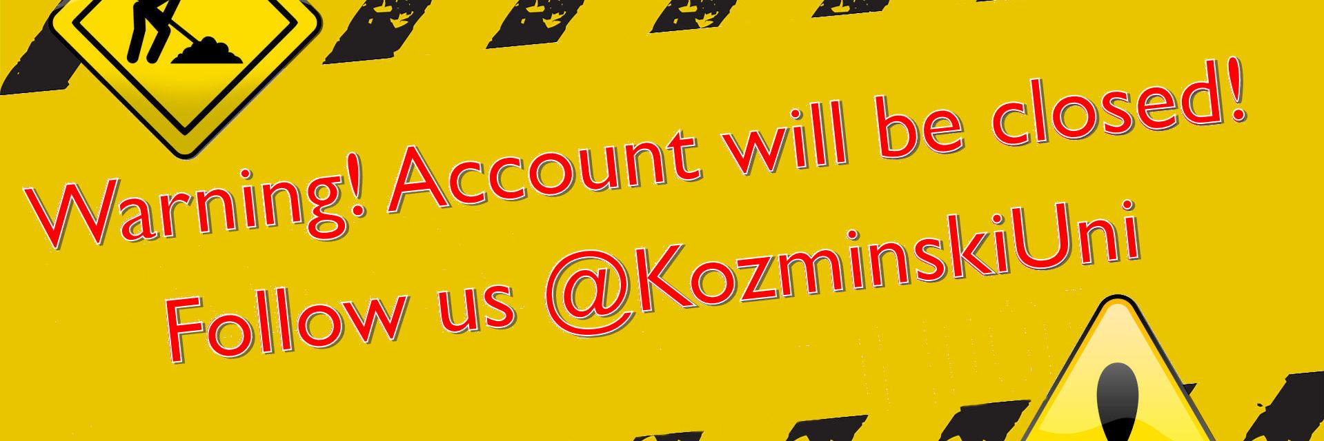 Akademia Leona Kozminskiego's official Twitter account