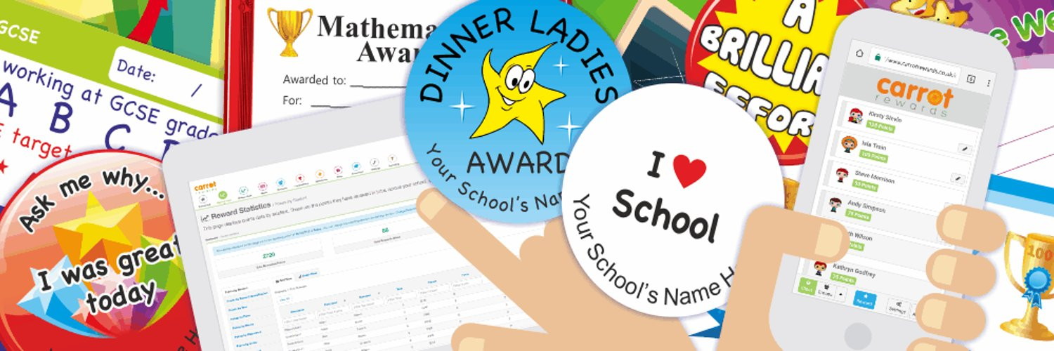 Providing customised rewards for schools worldwide since 2000 - Online rewards system #CarrotRewards, School Stickers, Praise Postcards & Certificates.