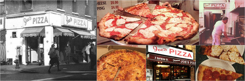 Joe's Pizza, since 1975, the Greenwich Village institution. West Village, East Village, Times Square, FIDI, Williamsburg, & Ann Arbor, MI