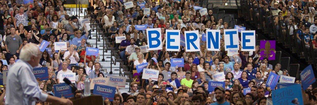 Some people just want to watch the world Bern. #Bernie2020 #DemocratsAbroad twitter.com/Bernie2020UK/s…