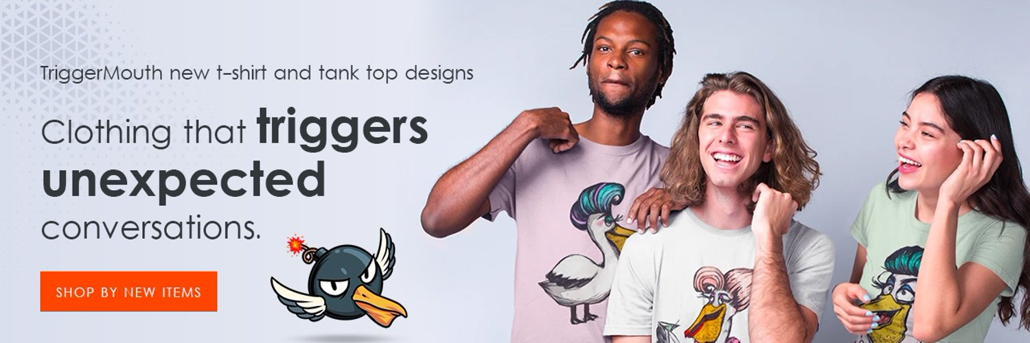 Graphic t-shirts that trigger unexpected conversations.