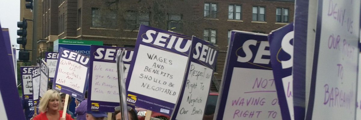 RT to support the 4,000 @SEIU26 janitors in Minnesota going on ULP strike Thursday fighting for a contract that win… https://t.co/EPjud7LzCP