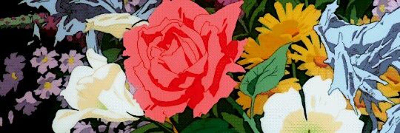 Картинки аниме цветы красивые движущиеся, открытка ежик