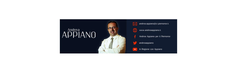Dott. ANDREA APPIANO Consigliere della Regione Piemonte