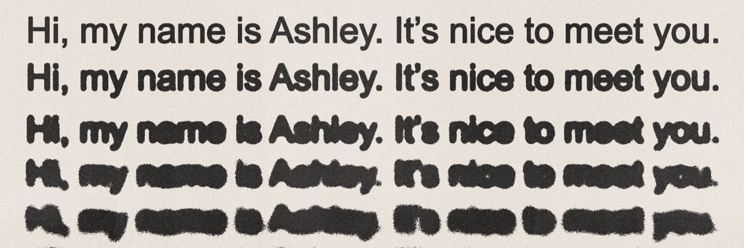 hi, my name is Ashley. it's nice to meet you.