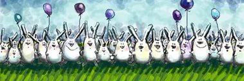 Прикольные открытки с днем рождения с кроликами