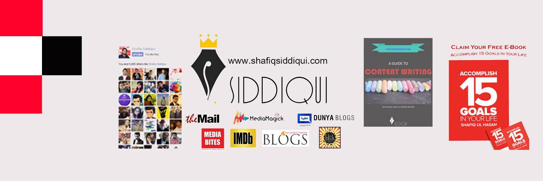 Founder @Mediamagick | #FilmCritic @tribuneblogs | #DigitalMarketing @ shafiqsiddiqui.com | #Writer | #Blogger #DigitalPakistan #Author #WritingCommunity