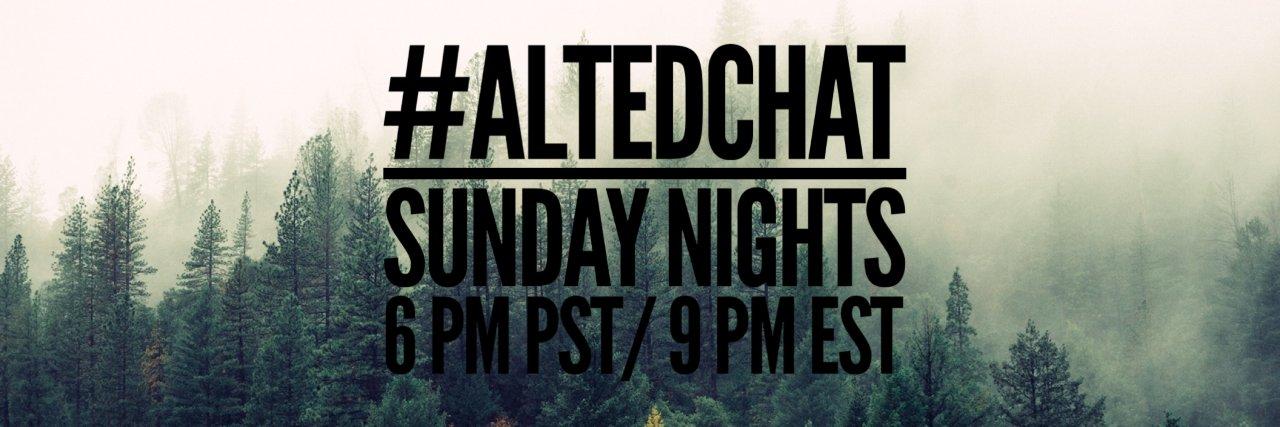 Join #AltEdChat in one hour! Invite your #PLN. twitter.com/jillian_damon/…