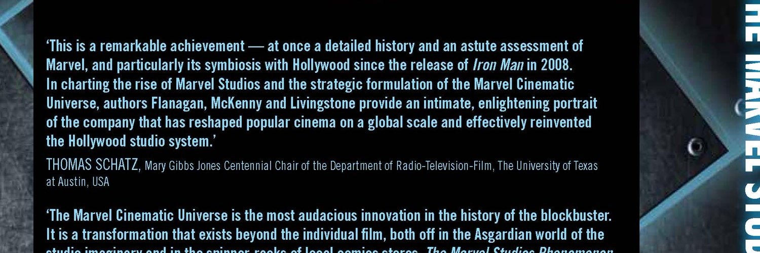 Co-author of The Marvel Studios Phenomenon: Inside a Transmedia Universe. I currently teach secondary English and Media in Bradford. Skateboard when I can.
