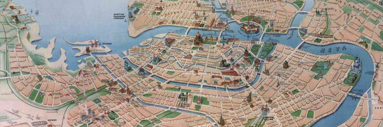 карта города санкт-петербурга картинки раннем средневековье территории